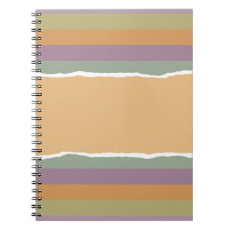 Ripped striped wrapping paper notebook