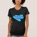 Ripped Super Mum-Light Blue/Purple Text T Shirts