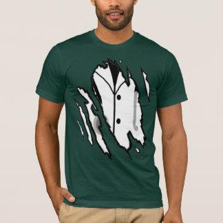 Ripped Thorough Draw Cartoon Doctor - Colour T-Shirt