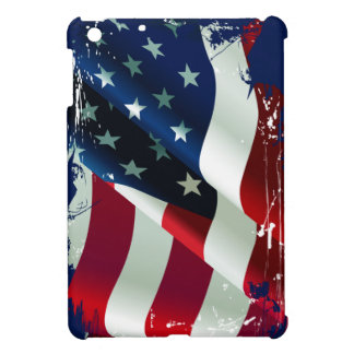 Ripped Torn America Flag iPad Cover For The iPad Mini