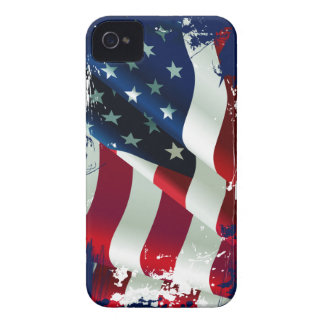 Ripped Torn America Flag iPhone 4 Case