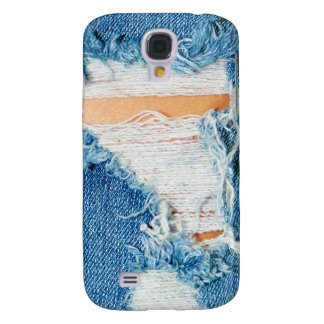 Ripped Torn Denim Blue Jeans Galaxy S4 Case