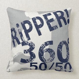 Ripper 360 50/50 Skateboard Pillow Silver Navy