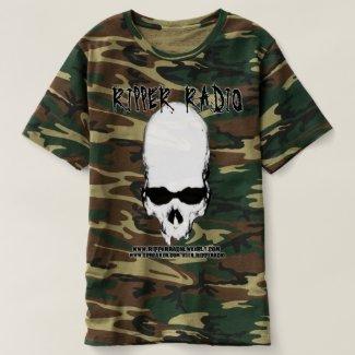 ripper aged skull t-shirt