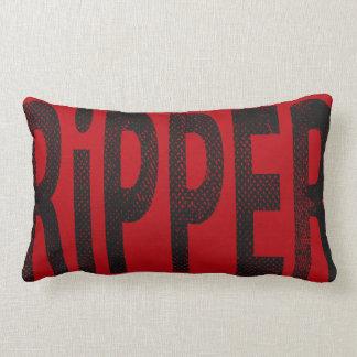 Ripper Skateboard Word Art Pillow Vintage Red/Grey