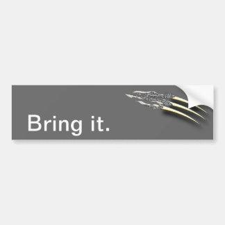 Ripping Claws Car Bumper Sticker