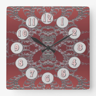 ripple 4 square wall clock