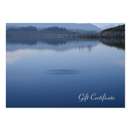 Ripple in Still Blue Water - Gift Certificate Business Cards