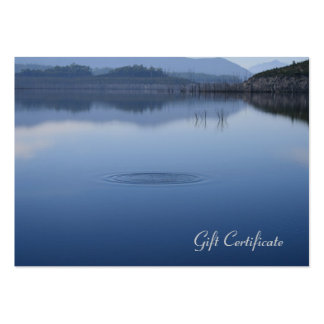 Ripple in Still Blue Water - Gift Certificate Large Business Card