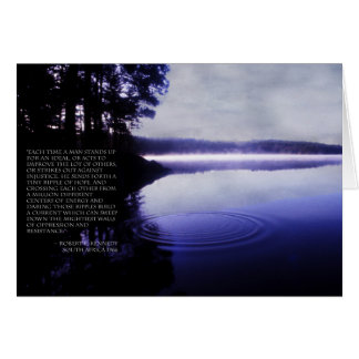 Ripple of Hope - Bobby Kennedy Quote Card
