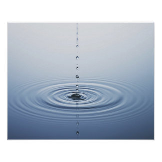 Ripple on Water Poster