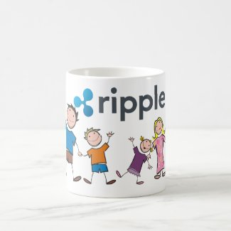 Ripple (xrp) Happy Family Logo Coffee Mug | XRP