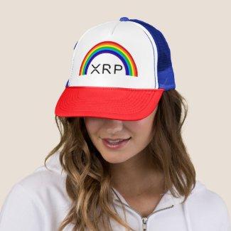 Ripple XRP rainbow baseball cap