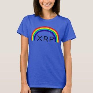 Ripple XRP rainbow ladies t-shirt