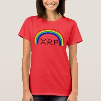 Ripple XRP rainbow womens t-shirt