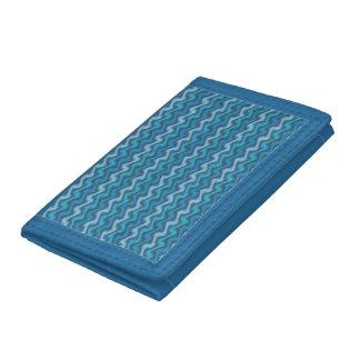 Rippled Blue Wallet