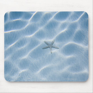 Rippled blue water with starfish mouse pad
