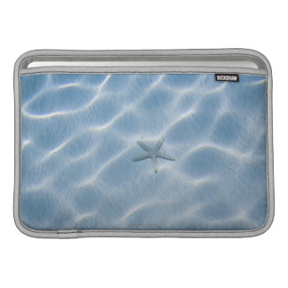Rippled blue water with starfish sleeve for MacBook air