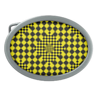 Rippled Checkers by Kenneth Yoncich Belt Buckle