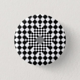 Rippled Checkers by Kenneth Yoncich Pinback Button