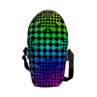 Rippled Checkers Courier Bag
