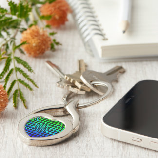 Rippled Checkers Keychain