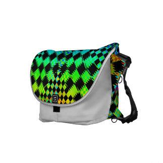 Rippled Checkers Messenger Bag