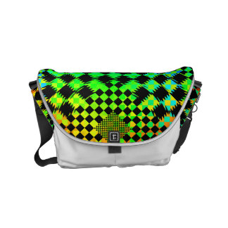 Rippled Checkers Small Messenger Bag