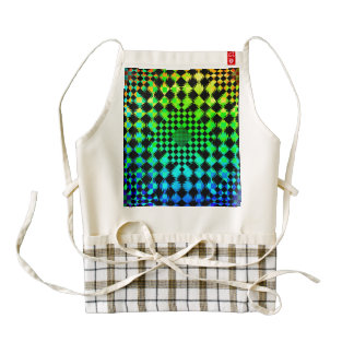Rippled Checkers Zazzle HEART Apron