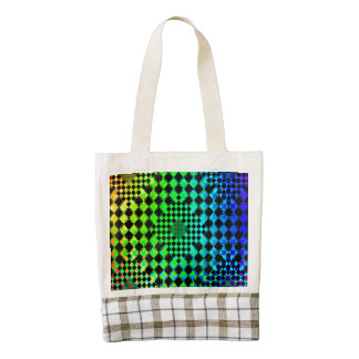 Rippled Checkers Zazzle HEART Tote Bag