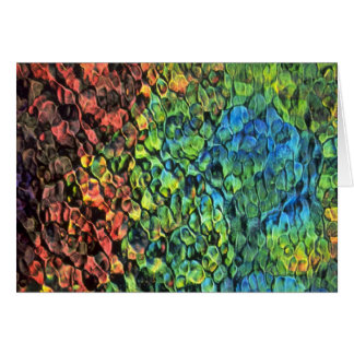 Rippled colors texture greeting card