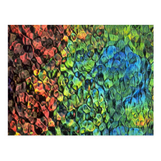 Rippled colors texture postcard