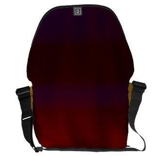 Rippled Dark Red Abstract Messenger Bag