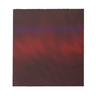 Rippled Dark Red Abstract Note Pad