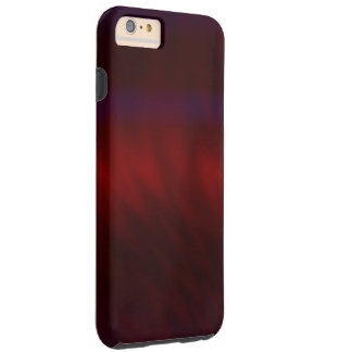 Rippled Dark Red Abstract Tough iPhone 6 Plus Case