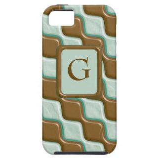 Rippled Diamonds - Chocolate Mint iPhone 5 Covers