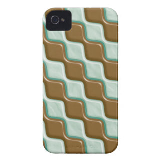 Rippled Diamonds - Chocolate Mint iPhone 4 Cover