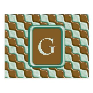 Rippled Diamonds - Chocolate Mint Postcard