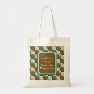 Rippled Diamonds - Chocolate Mint Tote Bag
