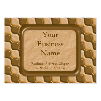 Rippled Diamonds - Chocolate Peanut Butter Large Business Cards (Pack Of 100)