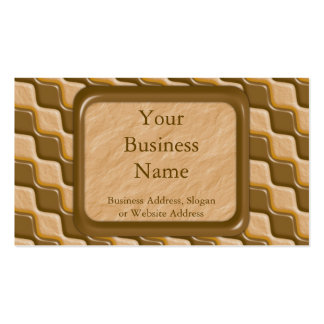 Rippled Diamonds - Chocolate Peanut Butter Double-Sided Standard Business Cards (Pack Of 100)