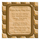 Rippled Diamonds - Chocolate Peanut Butter 5.25x5.25 Square Paper Invitation Card