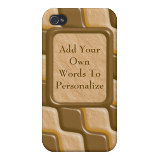 Rippled Diamonds - Chocolate Peanut Butter iPhone 4 Cover