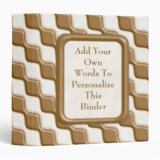 Rippled Diamonds - Milk and White Chocolate 3 Ring Binder