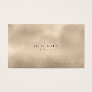 Rippled Glass Ivory Pearl Titanium Stylist Vip Business Card