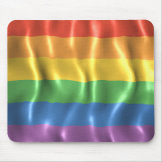 Rippled Pride Flag Mouse Pad