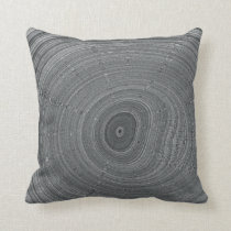Rippled Puddle Drop Throw Pillow