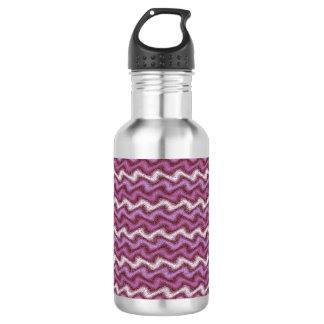 Rippled Purple Water Bottle