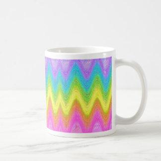 """Rippled Rainbow"" Classic White Coffee Mug"