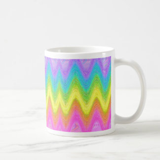 """""""Rippled Rainbow"""" Coffee Mug"""